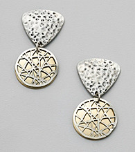 Laura Ashley® Two Tone Metal Earrings