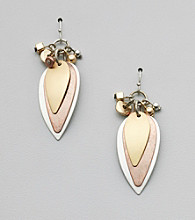 Laura Ashley® Tri-Tone Metal Earrings