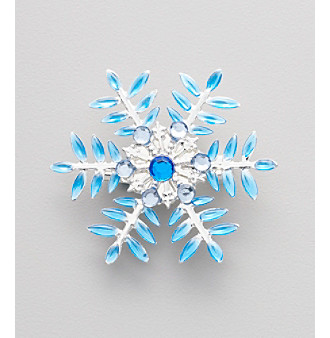 Holiday Motif 2012 Blue Snowflake Pin
