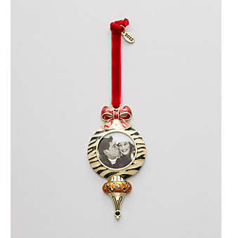 Goldtone/Animal Holiday 2012 Bulb Photo Ornament
