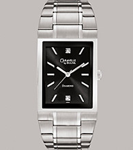Caravelle® by Bulova Men's Stainless Steel Bracelet Watch with Diamond Dial