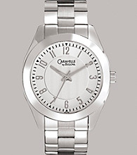 Caravelle® by Bulova Women's Stainless Steel Bracelet Watch with Silver-White Dial