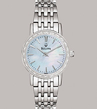 Bulova®Women's Diamond and White Mother of Pearl Watch