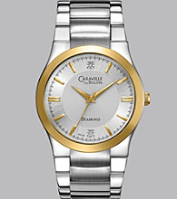 Caravelle® by Bulova Men's Two Tone Finish Bracelet Watch with Diamond Dial