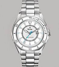 Bulova® Women's Precisionist Stainless Steel Bracelet Watch with Silver-White Dial - Winterpark Collection