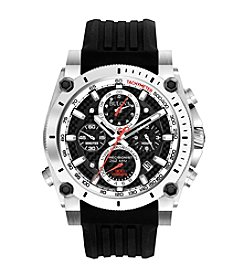 Bulova® Men's Precisionist Chronograph Watch with Black Strap and Dial - Champlain Collection