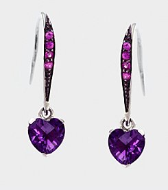 Effy® Sterling Silver, Amethyst and Pink Sapphire Earrings