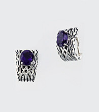 Effy® Sterling Silver and Amethyst Earrings