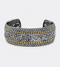 Effy® Sterling Silver and 18K Yellow Gold Cuff Bracelet