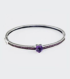 Effy® Amethyst and Pink Sapphire Bangle Bracelet in Sterling Silver
