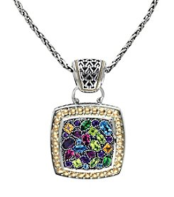 Effy® Multi Gem Pendant Necklace in Sterling Silver