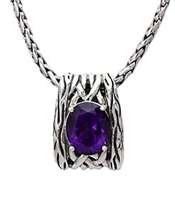 Effy® Amethyst Pendant Necklace in Sterling Silver
