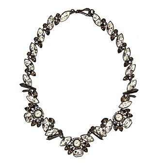Givenchy® Light Hematite Collar Necklace