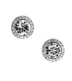 Givenchy® Silvertone Crystal Stud Earrings