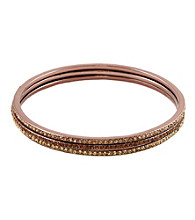 Givenchy® Brown Goldtone Topaz Bangle Set