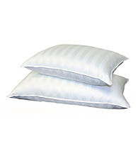 Blue Ridge Home Fashions 500 Thread-Count Siberian Damask Stripe White Down Pillow