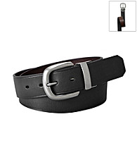Fossil® Black Keyhole Reversible Belt