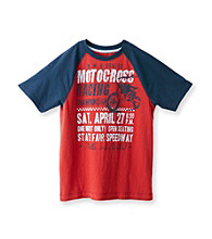 Ruff Hewn Boys' 8-20 India Red Short Sleeve Graphic Raglan Tee