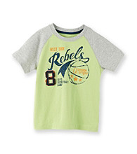 Ruff Hewn Boys' 2T-7X Green Patina Graphic Raglan Tee