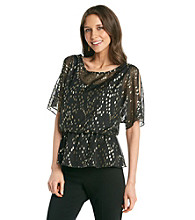 Cachet® Chiffon Gold Dot Top