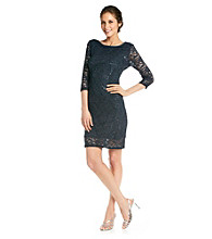 Marina Stretch Lace Cocktail Dress