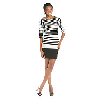 Chaus Graduated Stripe Dress
