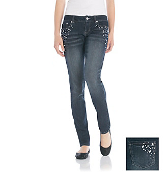 Blue Spice Juniors' Bling Skinny Jeans