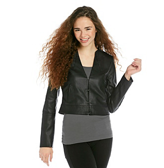 Product: XOXO Juniors' Multi Stitch Faux Leather Jacket