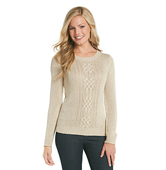 Relativity® Cableknit Sweater