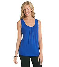 Relativity® Career Pleated Tank Top