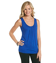 Relativity® Career Petites' Pleated Tank Top