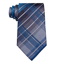Kenneth Cole REACTION® Men's Teal Monroe Grid Tie