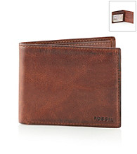 Fossil® Men's Brown FSL Carson Traveler Wallet