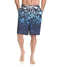 Paradise Collection® Men's Printed Ombre Hibiscus Swim Trunk
