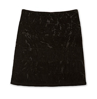 Amy Byer Girls' 7-16 Black Crushed Velvet Skirt