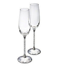 Swarovski® Set of 2 Toasting Flutes