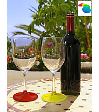 Epicureanist Silicone Grip Coaster Wine Charms