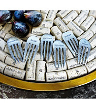 Epicureanist® Rustic Cheese Fork Marker Set