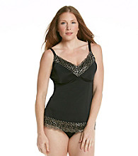 Skinnygirl® by Bethenny Frankel Plus Size Luxe Lace Shaping Camisole - Black