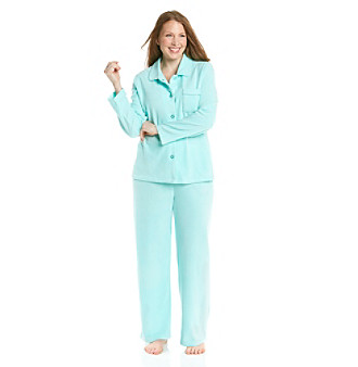 Intimate Essentials® Plus Size Fleece Pajama Set