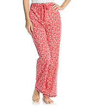 Cuddl Duds® Sleep Purrfect Day Knit Pants - Red Heart