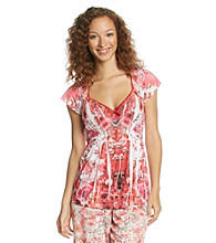 Oneworld® Dreamy Field Top - Red