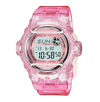 Baby-G Women's 46mm Jelly Pink Digital Watch With Translucent Resin Band