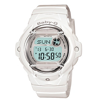 Baby-G Women's 46mm White Digital Watch With Translucent Resin Band