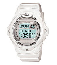 Baby-G Jelly White Resin Digital Watch with Gloss White Band