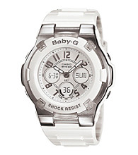 Baby-G Digital White Resin Watch