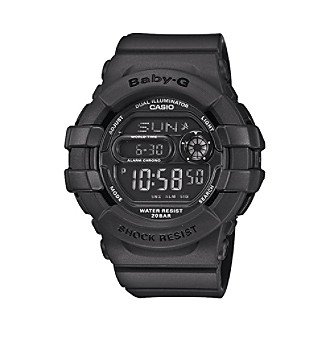 Baby-G Women's 46mm Matte Black Analog-Digital Watch With 3D Protection Case