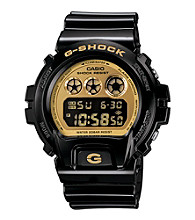 G-Shock Mirror Metallic Digital with Black Metallic Gloss Resin Band and Gold Mirror Dial
