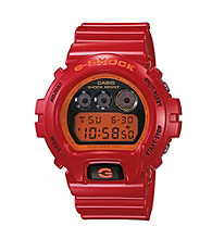 G-Shock Mirror Metallic Digital with Red Metallic Gloss Resin Band and Mirror Dial