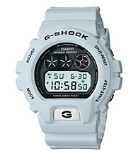 G-Shock Classic Digital with White Matte Resin Band and Black Dial